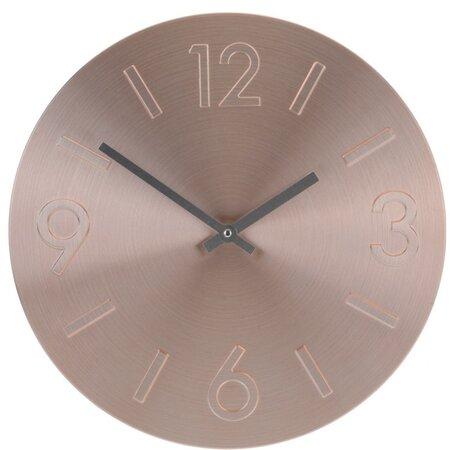 Ceas de perete Atlanta, roz, 35 cm