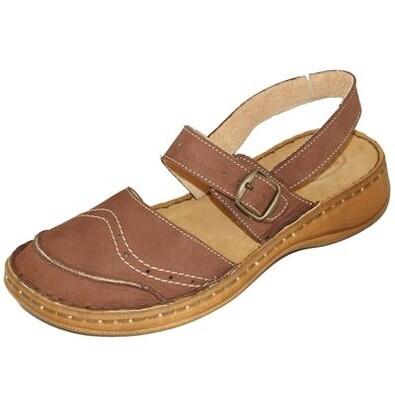 Dámská obuv s přezkou Orto Plus, hnědá, 42