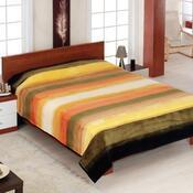 Přehoz na pohovku Amaro oranžový proužek, 160 x 200 cm