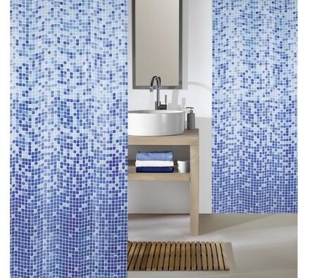 Kleine Wolke sprchový závěs Mozaika modrá, 180 x 200 cm