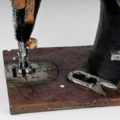 Stolní hodiny šicí stroj