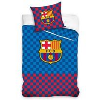 Bavlněné povlečení FC Barcelona Chessboard, 140 x 200 cm, 70 x 90 cm