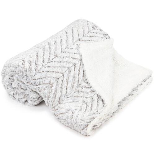 Pătură imitație lână XXL Silver gray, 200 x 240 cm