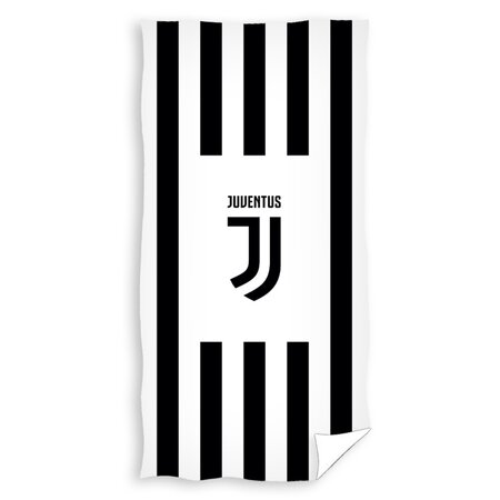 Osuška Juventus Black Stripes, 70 x 140 cm