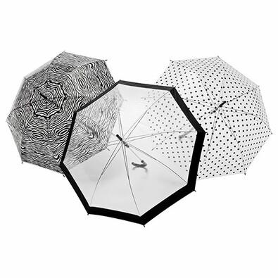 Průhledný deštník Zebra