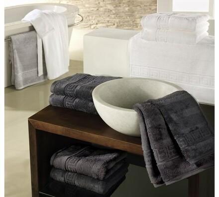 Cawö frottier ručník Noblesse šedý, 50 x 100 cm