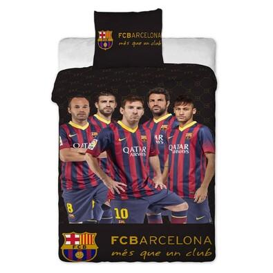 Bavlněné povlečení FC Barcelona players, 140 x 200 cm, 70 x 90 cm