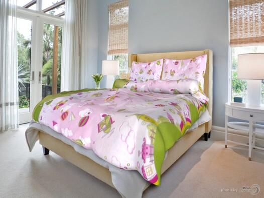 Detské bavlnené obliečky Ružové snívanie, 140x200,