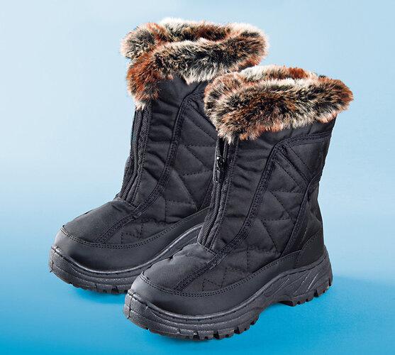 Dámske zimné topánky s baránkom, 36