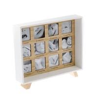 Drewniana ramka na fotografię stojąca Pierwszy rok życia, 25,5 x 29,5 cm