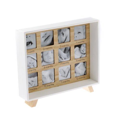 Drevený stojací fotorámček Prvý rok života, 25,5  29,5 cm