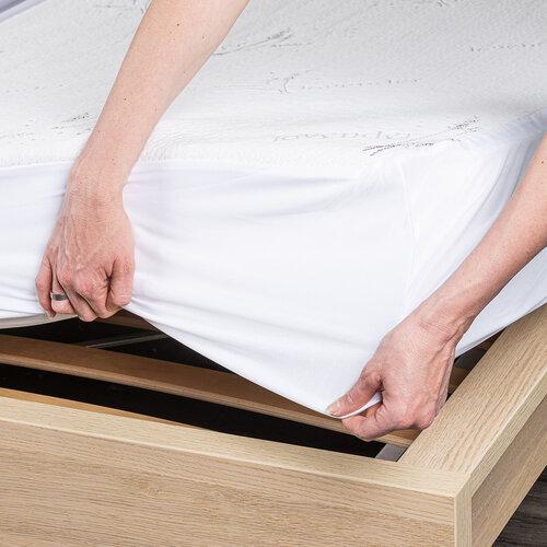 4Home Lavender Chránič matrace s lemem, 90 x 200 cm + 30 cm