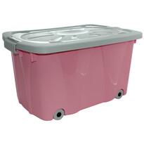 Altom Úložný box pojízdný, růžová
