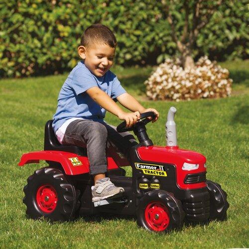 Dolu Duży traktor na pedały, czerwony