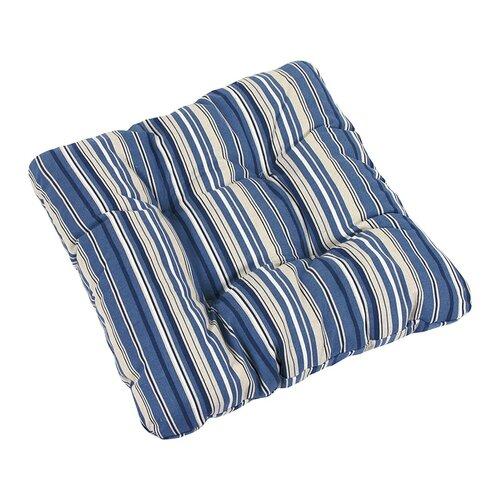Bellatex Sedák Ivo prúžok modrý, 40 x 40 cm, súprava 2 ks