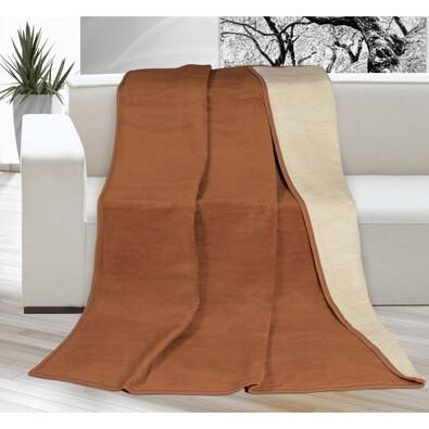 Kira takaró, barna/bézs, 150 x 200 cm