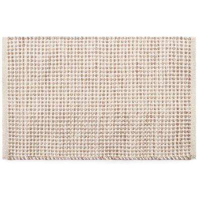 Kusový bavlněný koberec Elsa béžová, 50 x 80 cm