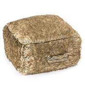 Sedací polštář na zem Notos hnědá, 43 x 39 cm