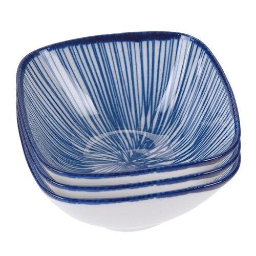 3-dielna sada porcelánových misiek, modrá