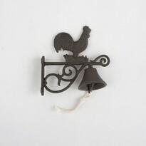 Dzwonek żeliwny Kogutek, 20 cm
