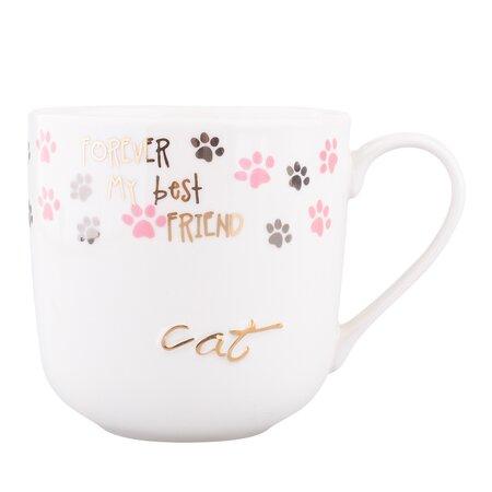 Altom Porcelanowy kubek Cat, 400 mlmix kolorów,