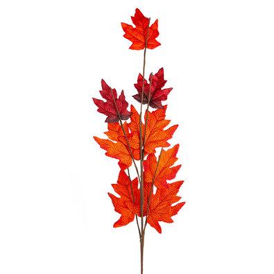 Podzimní větvička s červenými listy javoru, 70 cm