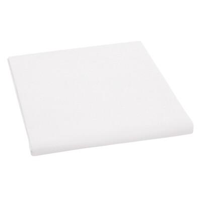 Plátěné prostěradlo, bílá, 150 x 230 cm