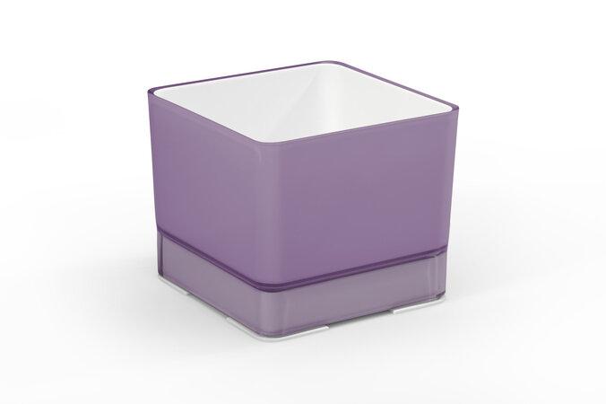 Cube műanyag virágtartó 120 lila