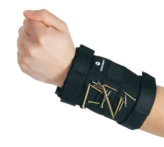 Magnetický pásik na ruku, čierna