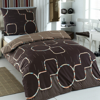 Přehoz na postel Myra hnědá, 220 x 240 cm