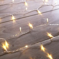 DecoKing Lampki ciepła biała, 200 LED