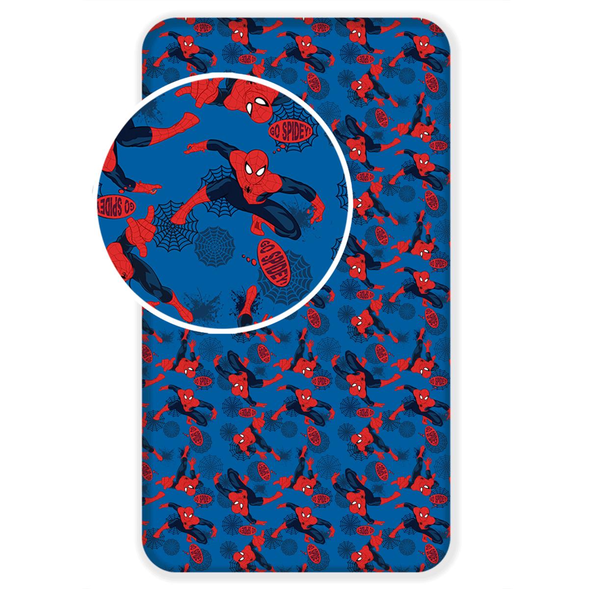 Jerry Fabrics Detské bavlnené prestieradlo Spiderman 2017, 90 x 200 cm