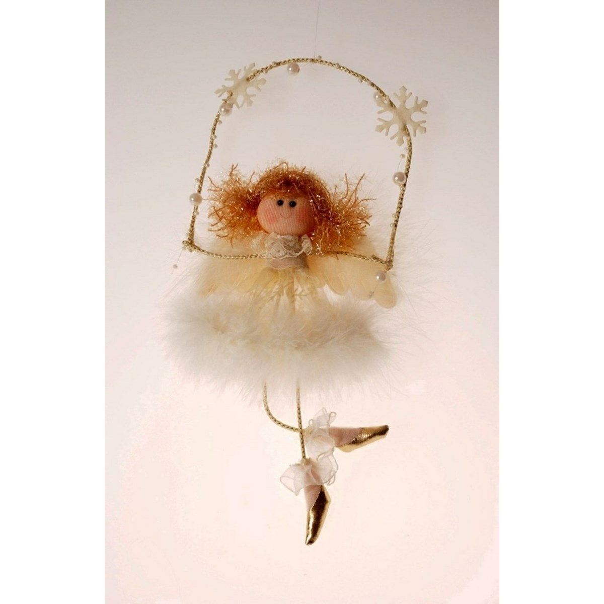 Vánoční anděl Chattie na houpačce, 30 cm