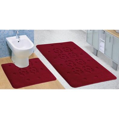 Sada koupelnových předložek Standard Stopa bordó, 80 x 50 cm, 50 x 40 cm