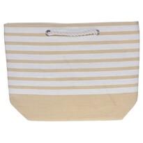 Stripes strandtáska, 52 x 38 cm, sárga