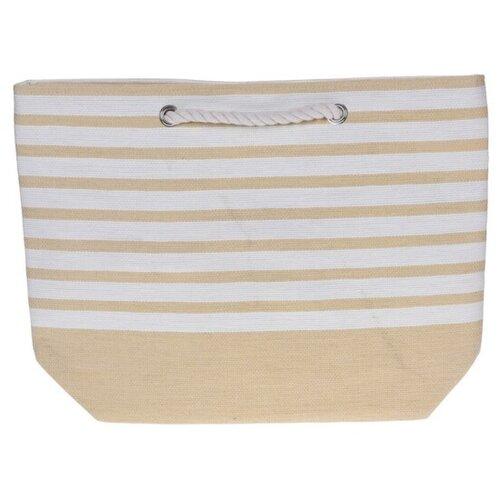 Geantă de plajă Stripes 52 x 38 cm, galbenă