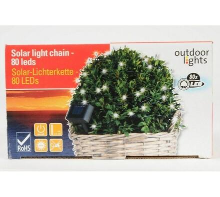 Solární světelný řetěz 80 LED, černá, 34 x 16 x 19 cm