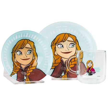 Mäser 3-częściowy komplet stołowy dziecięcy Frozen, Anna