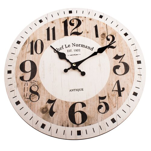 Drevené nástenné hodiny Chef le Normand, pr. 34 cm