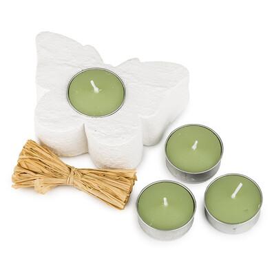 Set svíček a svícnu Motýl