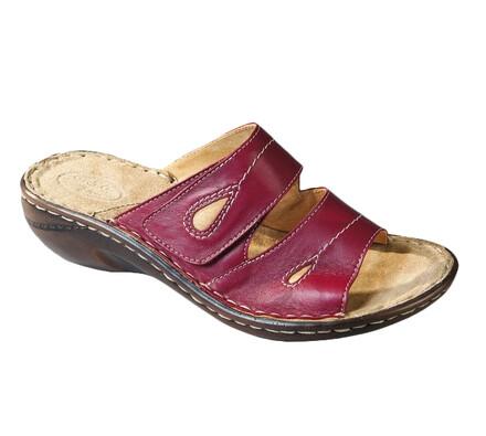 Orto Plus Dámská vycházková obuv na klínku vel. 40 červená