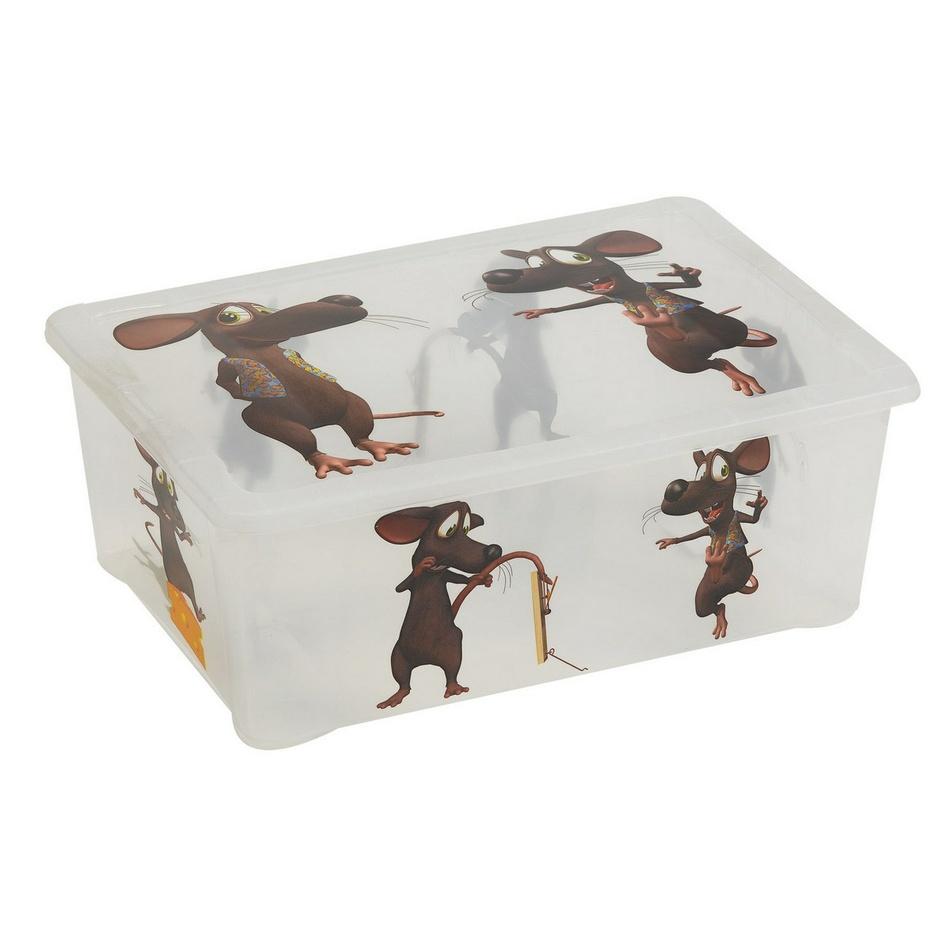 Plastový úložný box Myš, 17 l