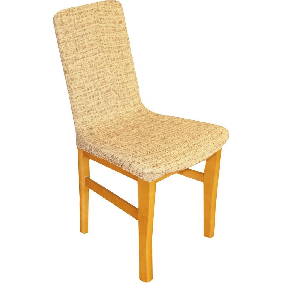 Forbyt Luxusný poťah Andrea na stoličku hnedá, sada 2 ks