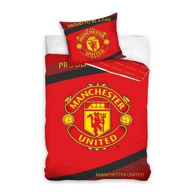 Bavlněné povlečení Manchester United, 140 x 200 cm, 70 x 80 cm