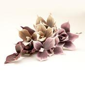 Umělá květina magnolie vínová