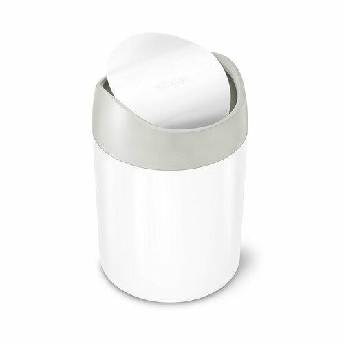 Simplehuman odpadový koš na stůl MINI 1,5 l, bílá