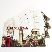 Prostírání City London, 28 x 42 cm, sada 4 ks