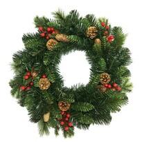 Savona karácsonyi koszorú, zöld, átmérő: 50 cm