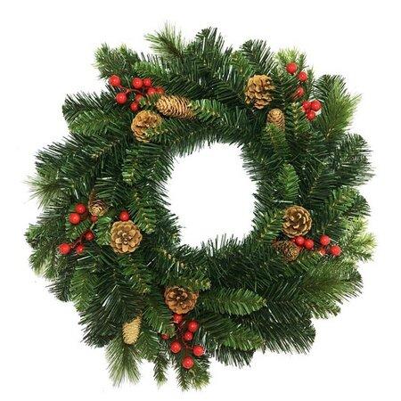 Coroniţă de Crăciun Savona, verde, diam. 50 cm