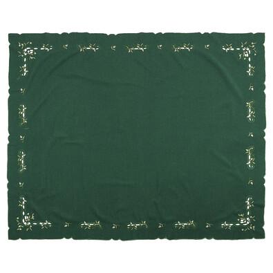 Vánoční ubrus jmelí zelená, 120 x 140 cm